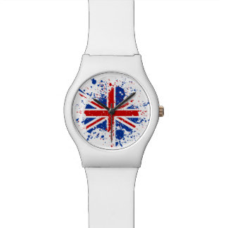 UK Union Jack Splash Colors Flag Watch