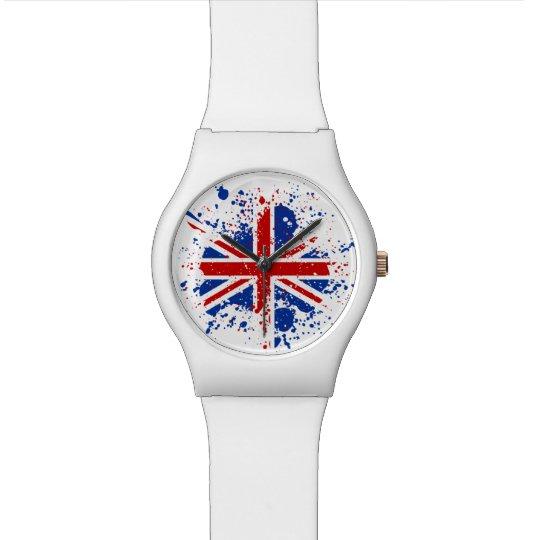 UK Union Jack Splash Colours Flag Watch