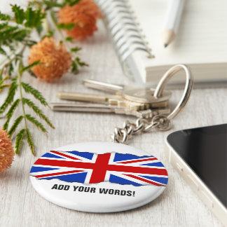 Uk United Kingdom Flag Basic Round Button Keychain