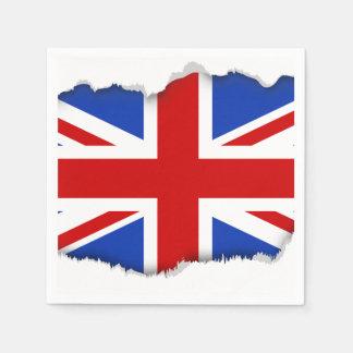 Uk United Kingdom Flag Disposable Napkin