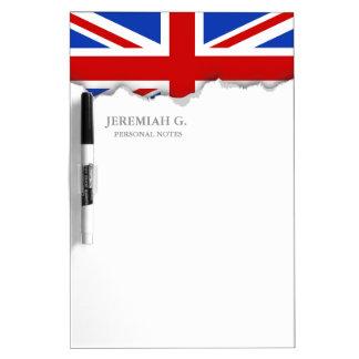 Uk United Kingdom Flag Dry Erase White Board