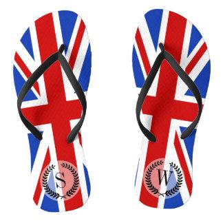 Uk United Kingdom Flag Flip Flops