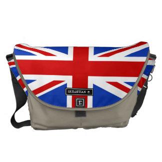 Uk United Kingdom Flag Messenger Bags