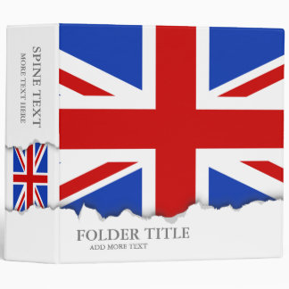 Uk United Kingdom Flag Vinyl Binders