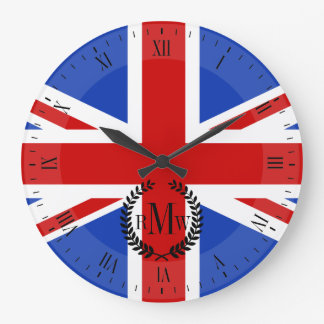 Uk United Kingdom Flag Wallclocks