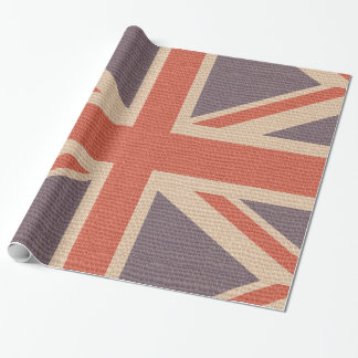 UK United Kingdom Union Jack Flag Wrapping Paper