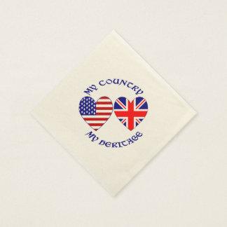 UK USA Country Heritage Paper Napkin
