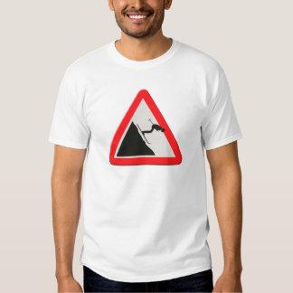 UK warning sign Downhill skier /off piste Shirt