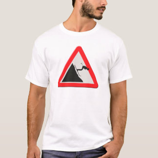 UK warning sign Downhill skier /off piste T-Shirt