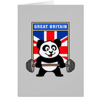 UK Weightlifting Panda Card