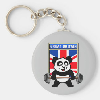 UK Weightlifting Panda Keychain