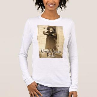 Uke Banjos Rock Ladies light long sleeve T-Shirt