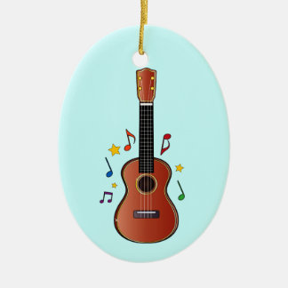 Ukelele on Blue! Ceramic Ornament
