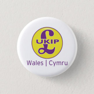 UKIP Wales Cymru Logo 1 Inch Round Button