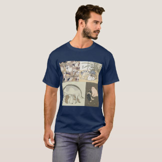 Ukiyo-e dog t-shirt (men) ukiyoe dog T shirt (man)