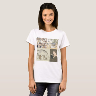 Ukiyo-e dog t-shirt (Women) ukiyoe dog T shirt