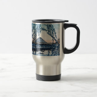 Ukiyo-e Mt. Fuji Japan Travel Mug