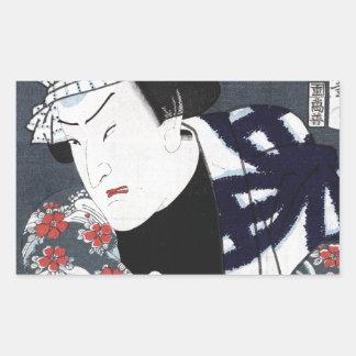 ukiyo-e samurai sticker