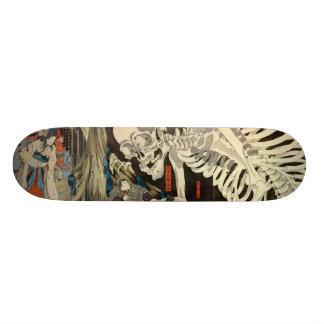 ukiyoe japan skateboard skull