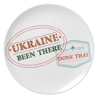 Ukraine Been There Done That Party Plate