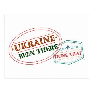 Ukraine Been There Done That Postcard
