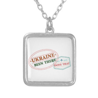 Ukraine Been There Done That Silver Plated Necklace