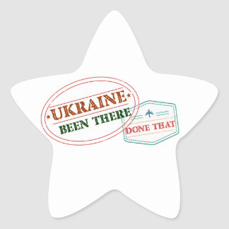Ukraine Been There Done That Star Sticker