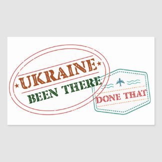 Ukraine Been There Done That Sticker