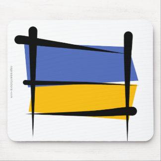 Ukraine Brush Flag Mouse Pad