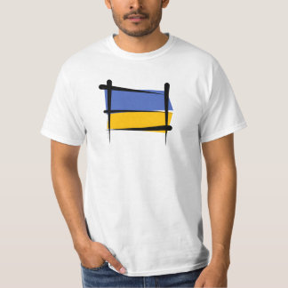 Ukraine Brush Flag T-Shirt