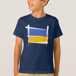 Ukraine Brush Flag T Shirts
