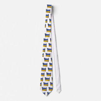 Ukraine Brush Flag Tie