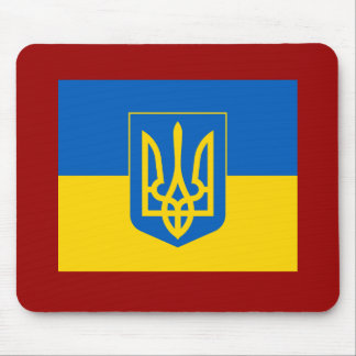 UKRAINE Coat of Arms and Flag Mouse Pad