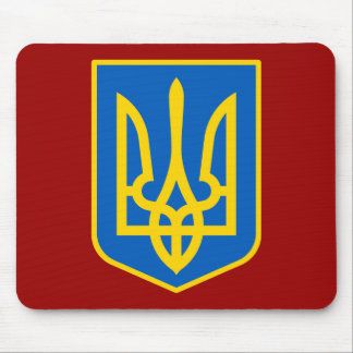 UKRAINE COAT OF ARMS MOUSE PAD