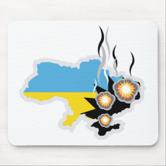 Ukraine conflict vector mouse pad