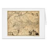 Ukraine Early Map 1648 Card