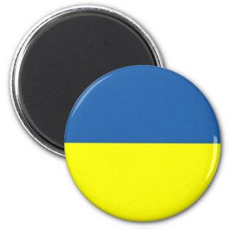 UKRAINE FLAG 2 INCH ROUND MAGNET