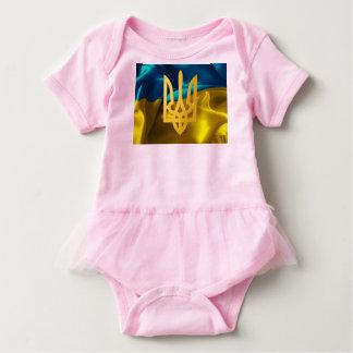 Ukraine Flag and Tryzub Baby Suit Tutu Baby Bodysuit