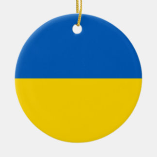 Ukraine Flag Ceramic Ornament