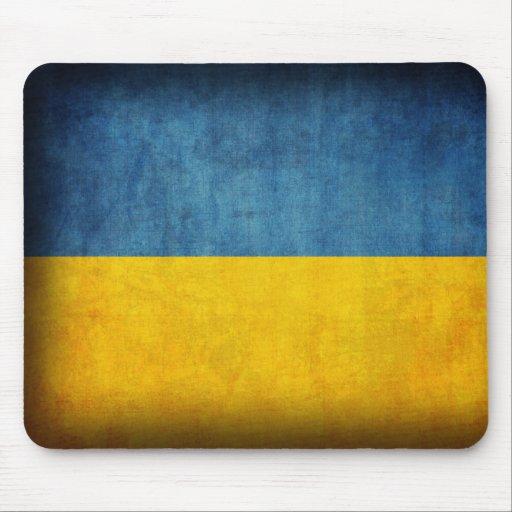 Ukraine Flag Distressed Mousepad