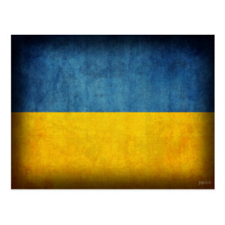 Ukraine Flag Distressed Postcards