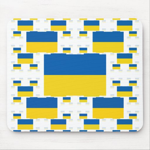 Ukraine Flag in Multiple Colorful Layers 2 Mousepads