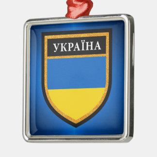 Ukraine Flag Metal Ornament