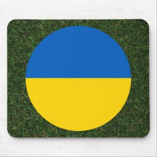 Ukraine Flag on Grass Mouse Pad