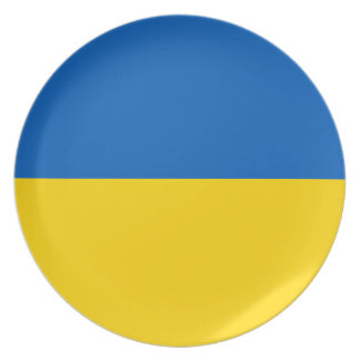 Ukraine Flag Party Plate