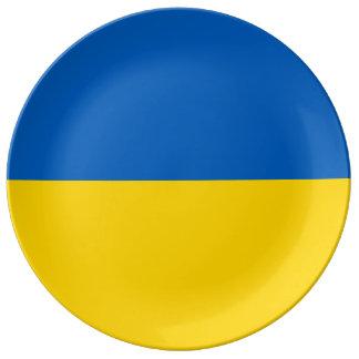 Ukraine Flag Porcelain Plate