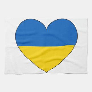 Ukraine Flag Simple Kitchen Towel