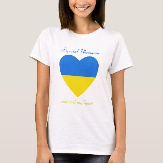 Ukraine Flag Sweetheart T-Shirt