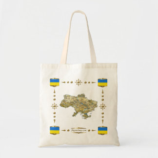 Ukraine Map + Flags Bag