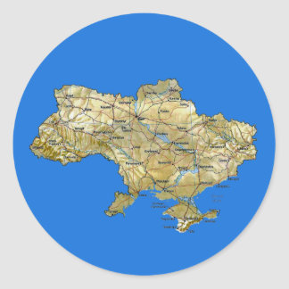Ukraine Map Sticker